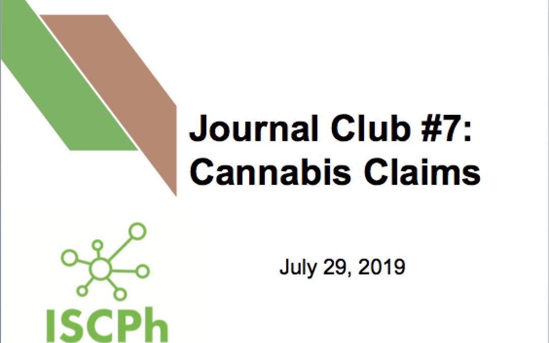 Journal Club #7: Cannabis Claims