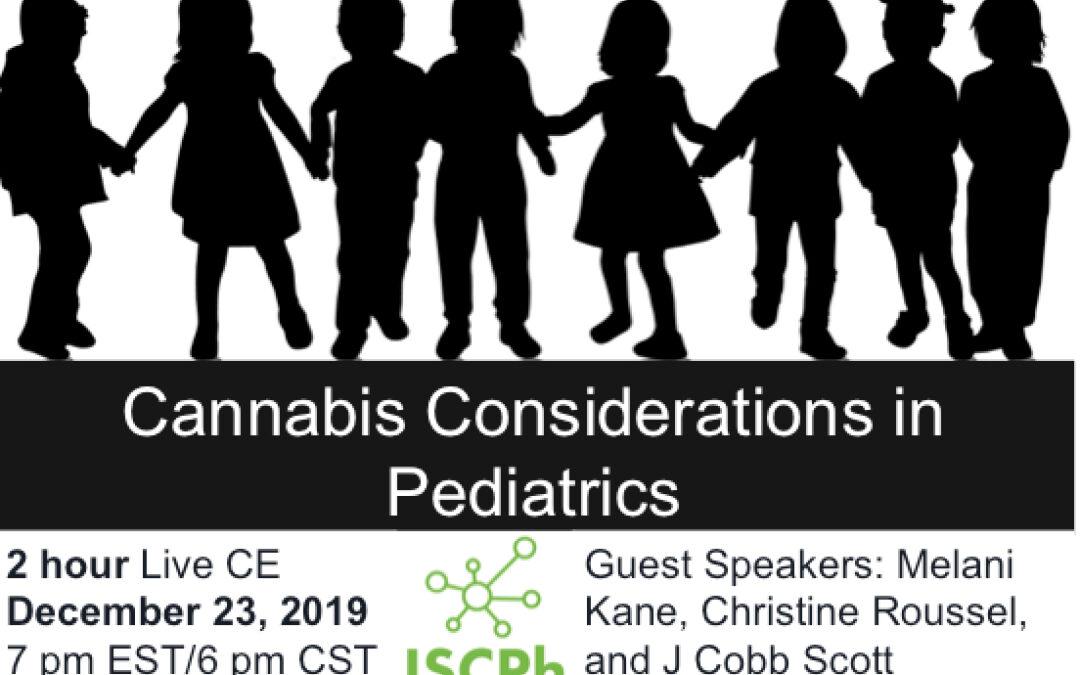 CE: Cannabis Considerations in Pediatrics